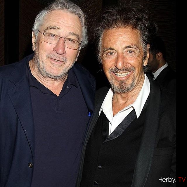 #aboutlastnight Al Pacino and Robert Deniro reunited for a «The Godfather» 45th anniversary dinner at #tribecafilmfestival #repost @variety