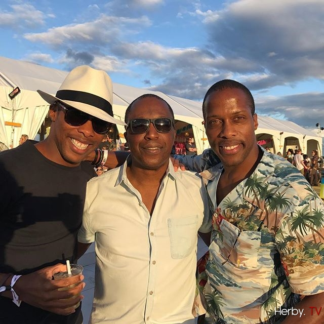Saturday night at @osheaga with my brothers from another mother. Happy birthday Byron and Dexter @wantlesessentiels #osheaga #byronanddexter