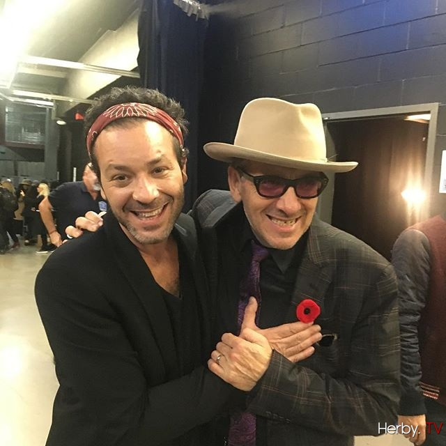 Adam Cohen and Elvis Costello #backstage #leonardcohen #tribute